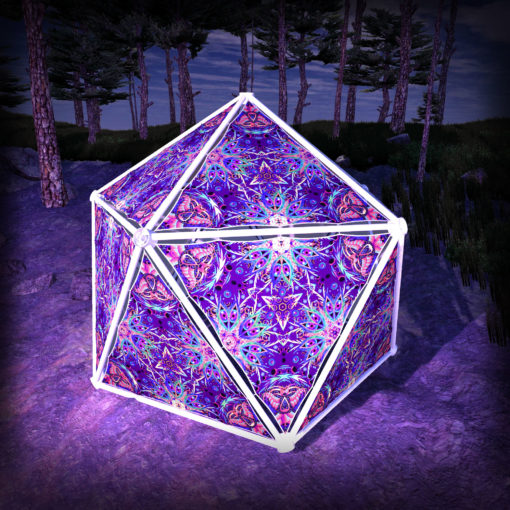 Jungle Snakes UV-Triangles - TR02 - Geodome - UV-Reactive Psychedelic Party Decoration - 3D Preview