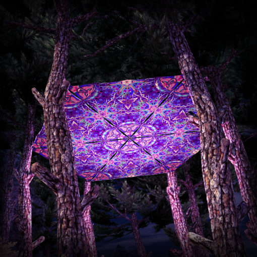 Jungle Snakes UV-Triangles - TR02 - 6 Pieces - UV-Reactive Psychedelic Party Decoration - 3D Preview