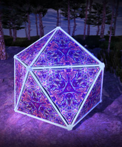 Jungle Snakes UV-Triangles - TR03 - Geodome - UV-Reactive Psychedelic Party Decoration - 3D Preview