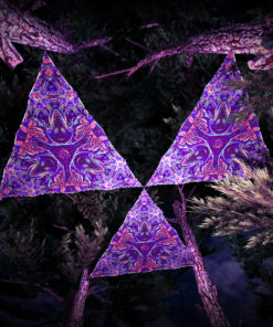 Jungle Snakes UV-Triangles - TR03 - 3 Pieces - UV-Reactive Psychedelic Party Decoration - 3D Preview