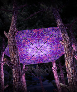 Jungle Snakes UV-Triangles - TR03 - 6 Pieces - UV-Reactive Psychedelic Party Decoration - 3D Preview