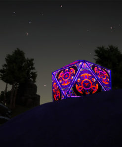 Jungle Snakes UV-Reactive Lycra Triangles put on a Geodome