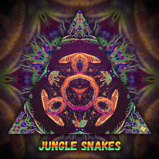 Jungle Snakes UV-Reactive Lycra Triangle
