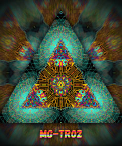 Magic Mushroom God - Triangle Design - TR02- UV-Print on Stretchable Lycra