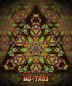 Magic Mushroom God - Triangle Design - TR03- UV-Print on Stretchable Lycra