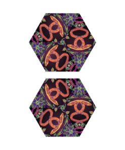 Jungle Snakes - Hexagram - UV-Canopy - Psychedelic Party Decoration - Flat Lay - Setup #4