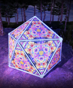 Barong UV-Triangles - TR01 - Geodome - UV-Reactive Psychedelic Party Decoration - 3D Preview