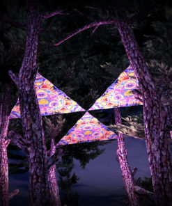 Barong UV-Triangles - TR01 - 3 Pieces - UV-Reactive Psychedelic Party Decoration - 3D Preview