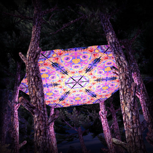 Barong UV-Triangles - TR01 - 6 Pieces - UV-Reactive Psychedelic Party Decoration - 3D Preview