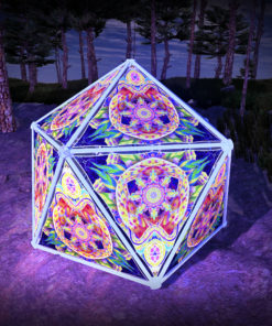Barong UV-Triangles - TR02 - Geodome - UV-Reactive Psychedelic Party Decoration - 3D Preview