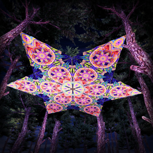 Barong UV-Triangles - TR02 - 12 Pieces - UV-Reactive Psychedelic Party Decoration - 3D Preview
