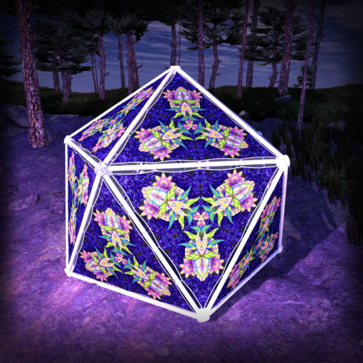 Barong UV-Triangles - TR03 - Geodome - UV-Reactive Psychedelic Party Decoration - 3D Preview