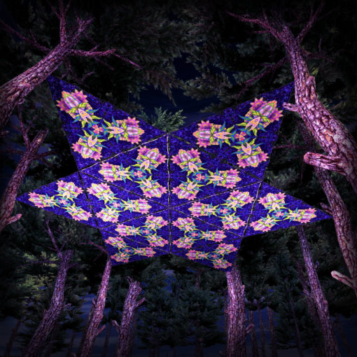 Barong UV-Triangles - TR03 - 12 Pieces - UV-Reactive Psychedelic Party Decoration - 3D Preview