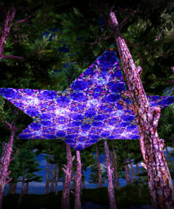Epic Underwater Kingdom UV-Triangles - TR01 - 12 Pieces - UV-Reactive Psychedelic Party Decoration - 3D Preview