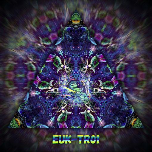Epic Underwater Kingdom - Triangle Design - TR01 - UV-Print on Stretchable Lycra