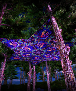 Epic Underwater Kingdom UV-Triangles - TR03 - 12 Pieces - UV-Reactive Psychedelic Party Decoration - 3D Preview