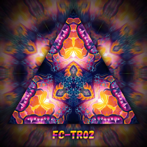 Frozen Corals - Triangle Design - TR02 - UV-Print on Stretchable Lycra