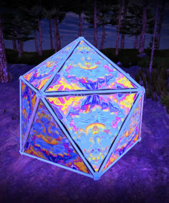 Lord Ganesha UV-Triangles - TR01 - Geodome - UV-Reactive Psychedelic Party Decoration - 3D Preview
