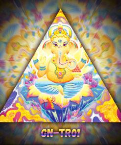 Lord Ganesha - Triangle Design - TR01 - UV-Print on Stretchable Lycra
