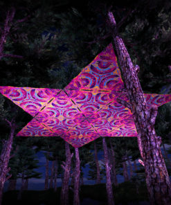 Lord Ganesha UV-Triangles - TR02 - 12 Pieces - UV-Reactive Psychedelic Party Decoration - 3D Preview