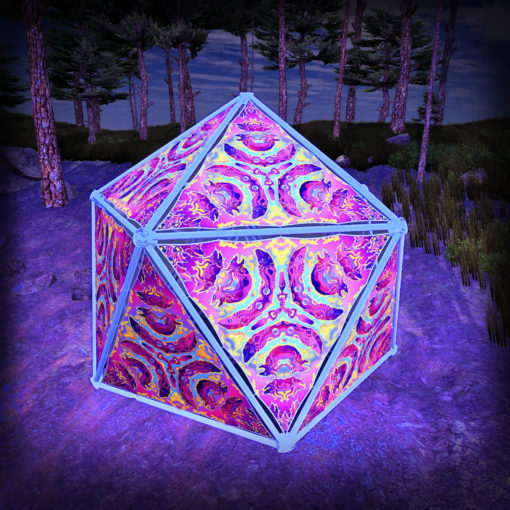 Lord Ganesha UV-Triangles - TR02 - Geodome - UV-Reactive Psychedelic Party Decoration - 3D Preview