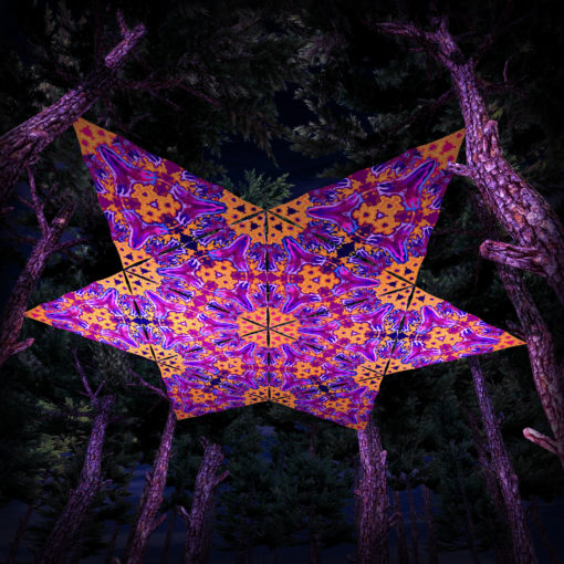 Lord Ganesha UV-Triangles - TR03 - 12 Pieces - UV-Reactive Psychedelic Party Decoration - 3D Preview