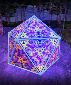 Lord Ganesha UV-Triangles - TR03 - Geodome - UV-Reactive Psychedelic Party Decoration - 3D Preview