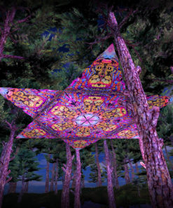 Lord Hanuman UV-Triangles - TR01 - 12 Pieces - UV-Reactive Psychedelic Party Decoration - 3D Preview