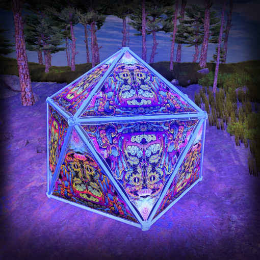 Lord Hanuman UV-Triangles - TR01 - Geodome - UV-Reactive Psychedelic Party Decoration - 3D Preview