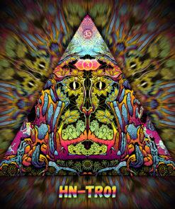 Lord Hanuman - Triangle Design - TR01 - UV-Print on Stretchable Lycra
