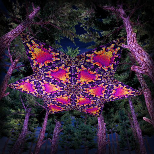 Lord Hanuman UV-Triangles - TR02 - 12 Pieces - UV-Reactive Psychedelic Party Decoration - 3D Preview