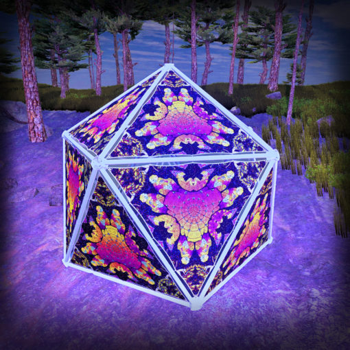 Lord Hanuman UV-Triangles - TR02 - Geodome - UV-Reactive Psychedelic Party Decoration - 3D Preview