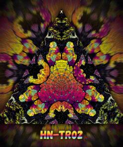 Lord Hanuman - Triangle Design - TR02 - UV-Print on Stretchable Lycra