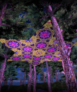 Lord Hanuman UV-Triangles - TR03 - 12 Pieces - UV-Reactive Psychedelic Party Decoration - 3D Preview