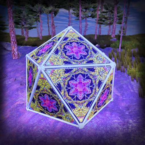 Lord Hanuman UV-Triangles - TR03 - Geodome - UV-Reactive Psychedelic Party Decoration - 3D Preview