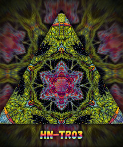 Lord Hanuman - Triangle Design - TR03 - UV-Print on Stretchable Lycra