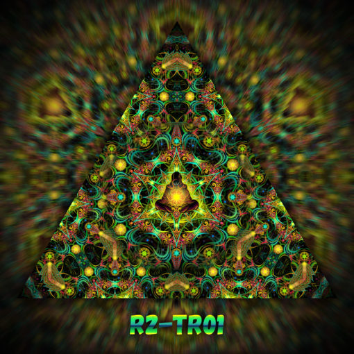 Reincarnation 2 - Triangle Design - TR01 - UV-Print on Stretchable Lycra