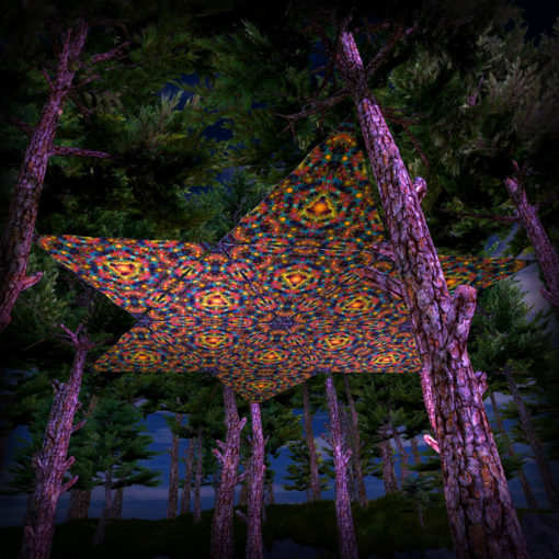 Reincarnation 2 UV-Triangles - TR01 - 12 Pieces - UV-Reactive Psychedelic Party Decoration - 3D Preview