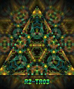 Reincarnation 2 - Triangle Design - TR03 - UV-Print on Stretchable Lycra