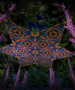 Reincarnation 2 UV-Triangles - TR03 - 12 Pieces - UV-Reactive Psychedelic Party Decoration - 3D Preview