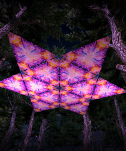 Frozen Corals UV-Triangles - TR01 - 12 Pieces - UV-Reactive Psychedelic Party Decoration - 3D Preview
