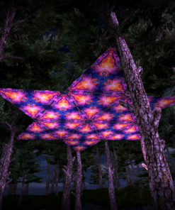 Frozen Corals UV-Triangles - TR02 - 12 Pieces - UV-Reactive Psychedelic Party Decoration - 3D Preview