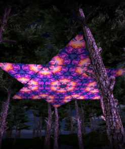 Frozen Corals UV-Triangles - TR03 - 12 Pieces - UV-Reactive Psychedelic Party Decoration - 3D Preview