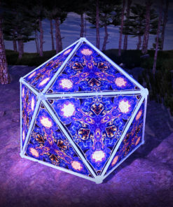 Magic Mushroom Werewolves UV-Triangles - TR01 - Geodome - UV-Reactive Psychedelic Party Decoration - 3D Preview
