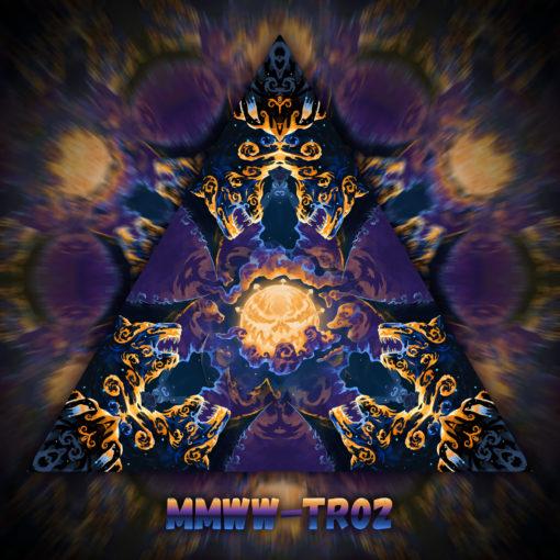 Magic Mushroom Werewolves - Triangle Design - TR02 - UV-Print on Stretchable Lycra
