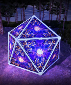 Magic Mushroom Werewolves UV-Triangles - TR02 - Geodome - UV-Reactive Psychedelic Party Decoration - 3D Preview