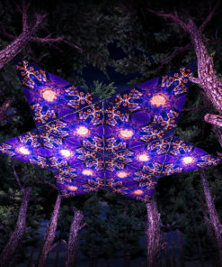 Magic Mushroom Werewolves UV-Triangles - TR02 - 12 Pieces - UV-Reactive Psychedelic Party Decoration - 3D Preview