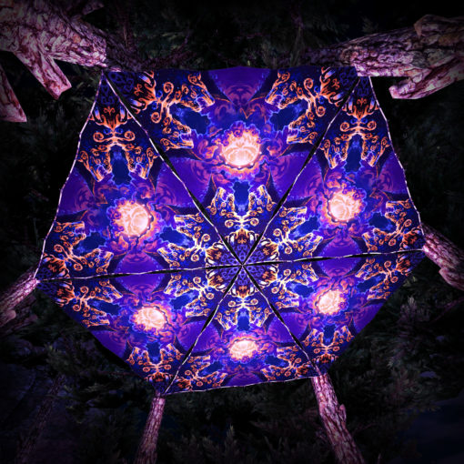 Magic Mushroom Werewolves UV-Triangles - TR02 - 6 Pieces - UV-Reactive Psychedelic Party Decoration - 3D Preview