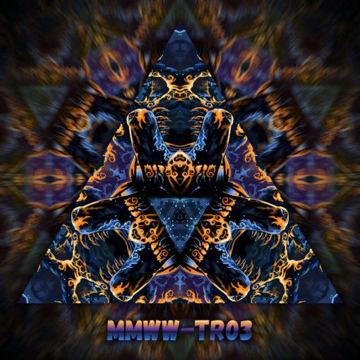 Magic Mushroom Werewolves - Triangle Design - TR03 - UV-Print on Stretchable Lycra
