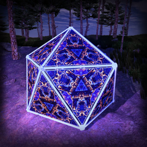 Magic Mushroom Werewolves UV-Triangles - TR03 - Geodome - UV-Reactive Psychedelic Party Decoration - 3D Preview
